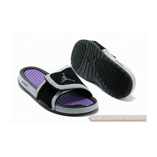 Nike Womens Jordan Hydro 2 Slide Black/Laser Purple Sneakers