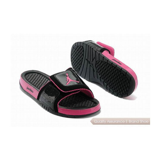 Nike Womens Jordan Hydro 2 Slide Black/Voltage Cherry Sneakers