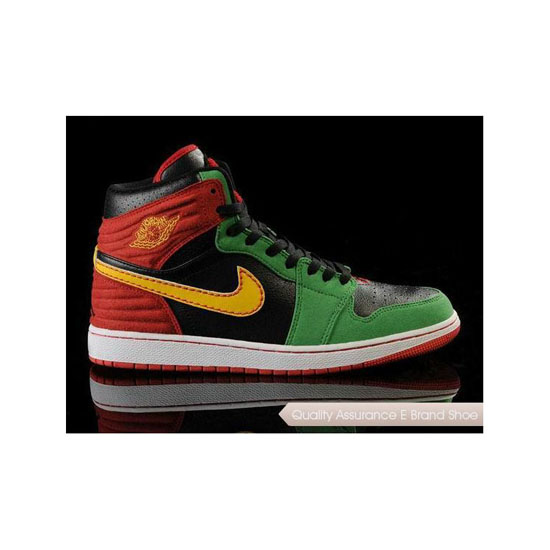 Nike Air Jordan 1 Retro '93 Red/Green/Black Sneakers