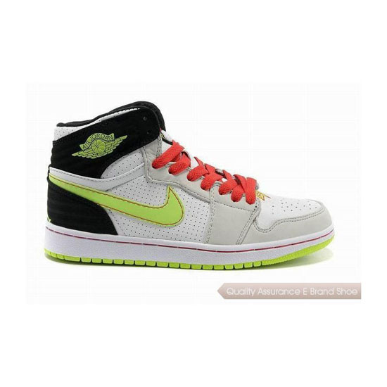 Nike Air Jordan 1 Retro '93 White/Electric Green-Gym Red Sneakers
