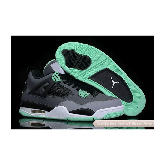 Nike Air Jordan 4 Green Glow Sneakers