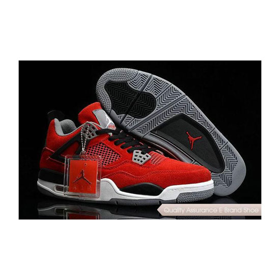 Nike Air Jordan 4 Suede Toro Red Sneakers