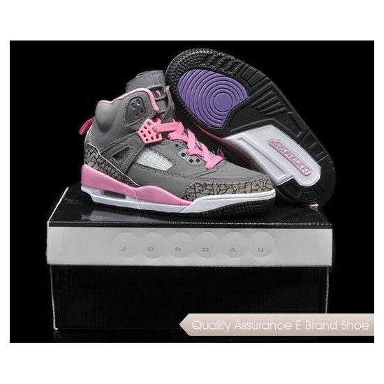 Nike Kids Air Jordan Spizike Cool Grey Pink Sneakers