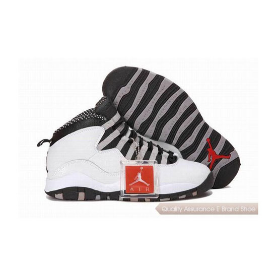 Nike Air Jordan 10 White Black Grey with Plastic Tag Sneakers
