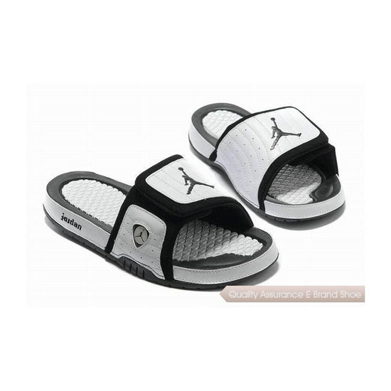 Nike Air Jordan 14 Retro White Black Hydro Slide Sandals Sneakers