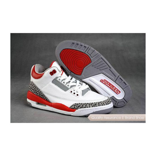 Nike Air Jordan 3 Fire Red/White-Cement Sneakers