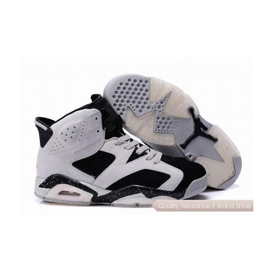 Nike Air Jordan 6 Suede White Black Sneakers