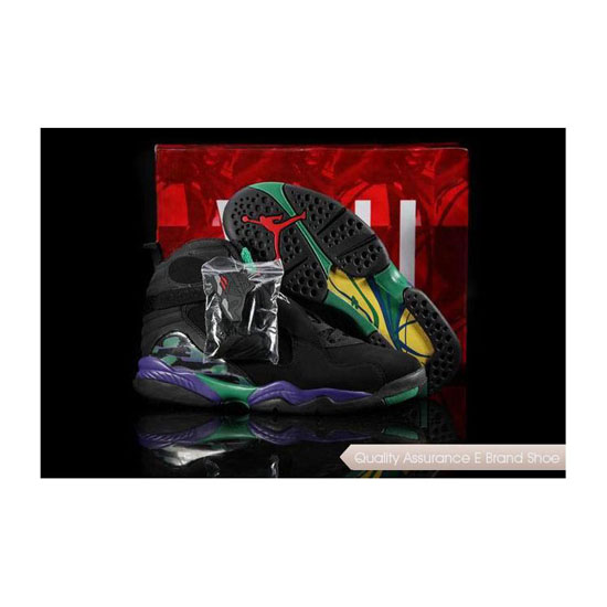 Nike Air Jordan 8 Black/Bright Concord-Aqua Tone Sneakers