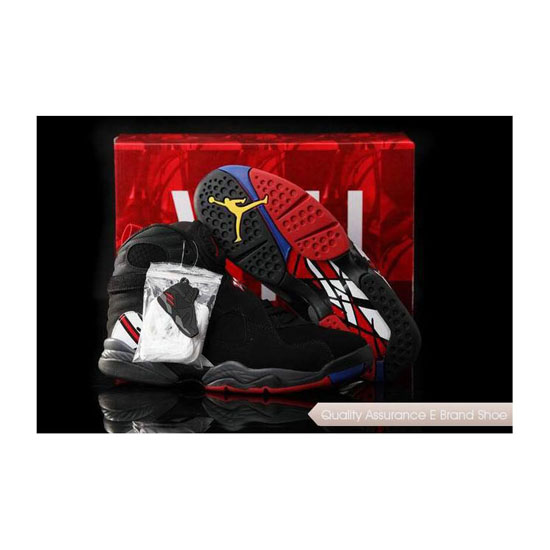 Nike Air Jordan 8 Black/True Red-White Sneakers
