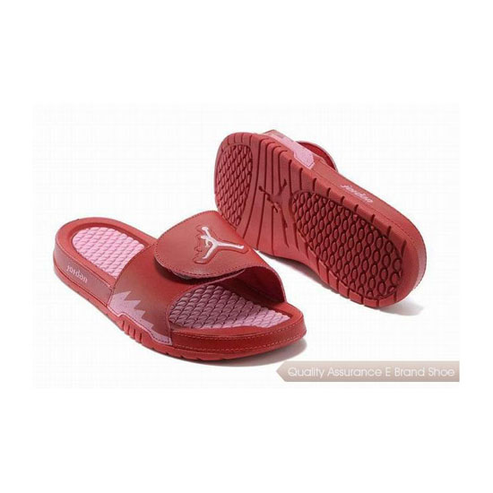 Nike Womens Jordan Hydro 2 Slide Gym Red/Ion Pink Sneakers