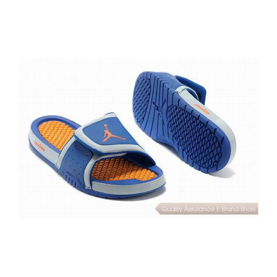 Nike Womens Jordan Hydro 2 Slide Royal Blue/Bright Citrus Sneakers
