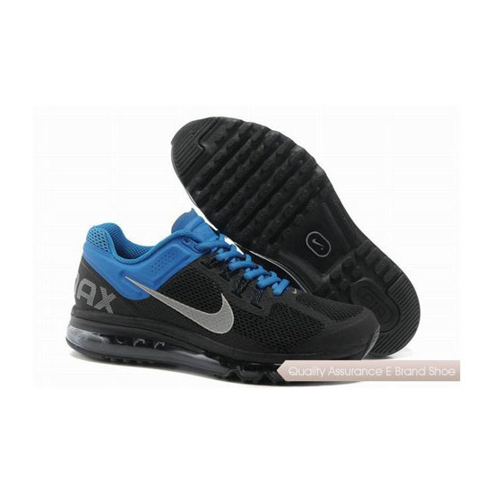 Nike Air Max 2013 Mens Black Blue Sneakers