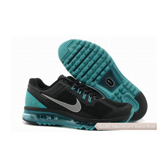 Nike Air Max 2013 Mens Black Gray Sneakers