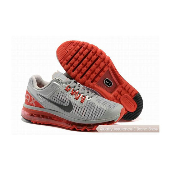 Nike Air Max 2013 Womens Gray Red Sneakers