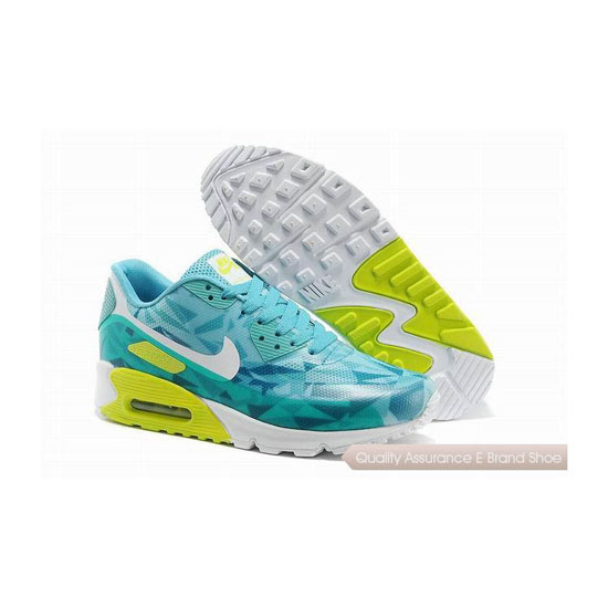 Nike Air Max 90 HYP PRM Unisex Blue Green Jogging Shoes