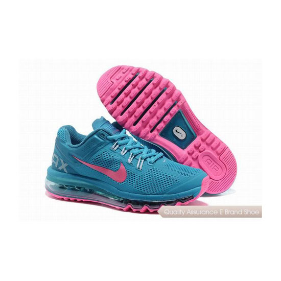 Nike Air Max 2013 Womens Blue Pink Sneakers