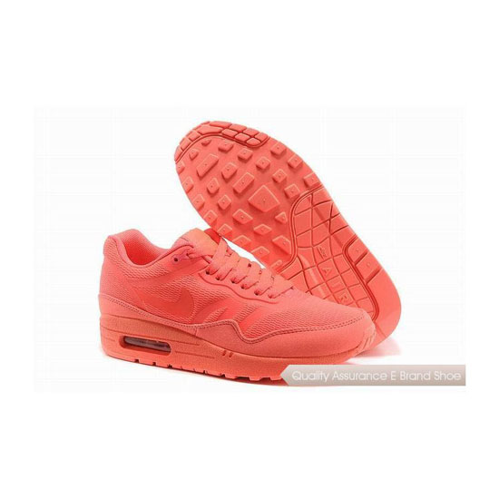 Nike Air Max 1 CMFT PRM TAPE Womens All Orange Sneakers