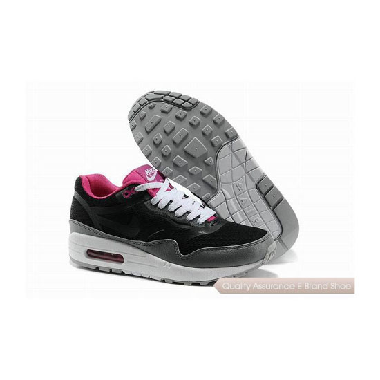 Nike Air Max 1 CMFT PRM TAPE Womens Black Pink Sneakers