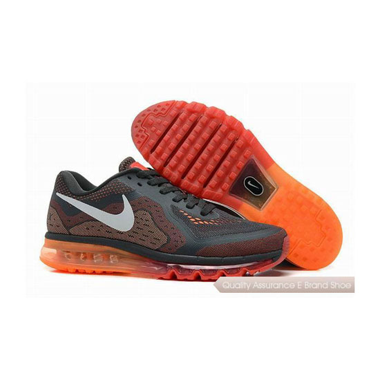 Nike Air Max 2014 Mens Gray Orange Sneakers