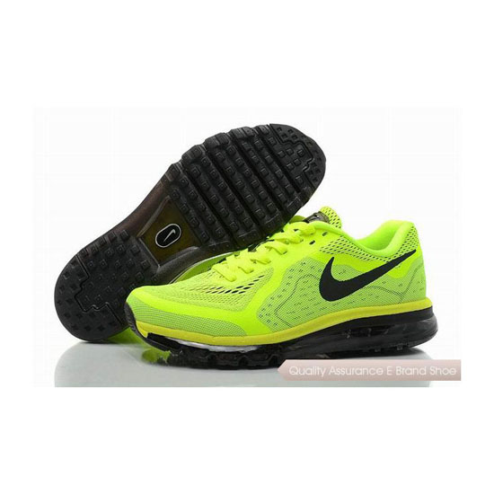 Nike Air Max 2014 Mens Green Black Jogging Shoes