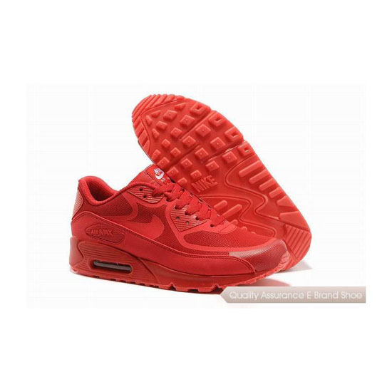 Nike Air Max 90 PREM TAPE Unisex All Red Sneakers