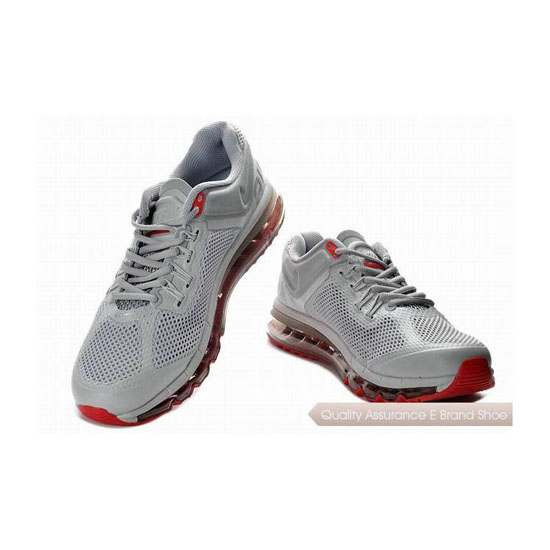 Nike Air Max 2013 Mens Gray Red Silver Sneakers