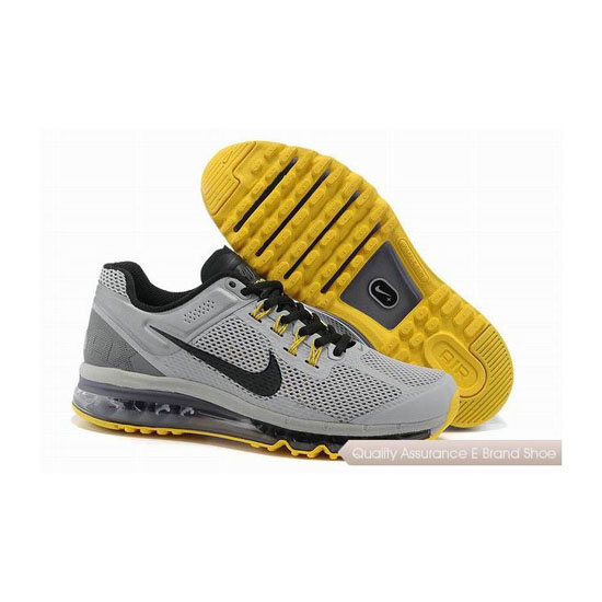Nike Air Max 2013 Mens Gray Yellow Black Sneakers