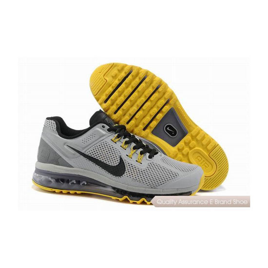 Nike Air Max 2013 Mens Gray Yellow Sneakers