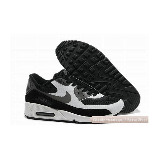Nike Air Max 90 Hyperfuse Mens White Black Sneakers