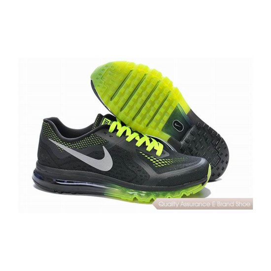 Nike Air Max 2014 Mens Black Green Sneakers