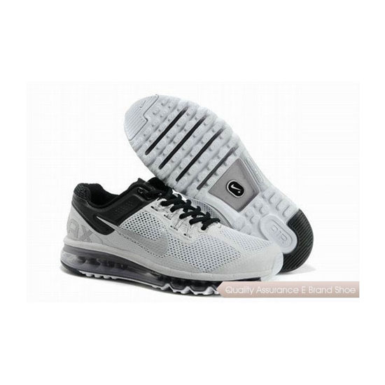Nike Air Max 2013 Mens White Gray Black Sneakers