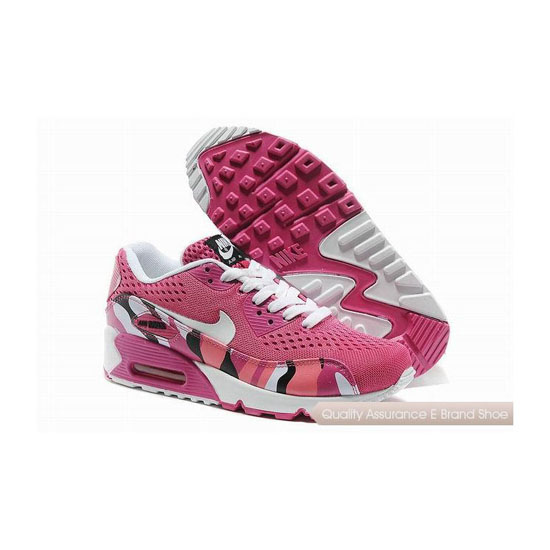 Nike Air Max 90 EM Womens Pink And White Sneakers