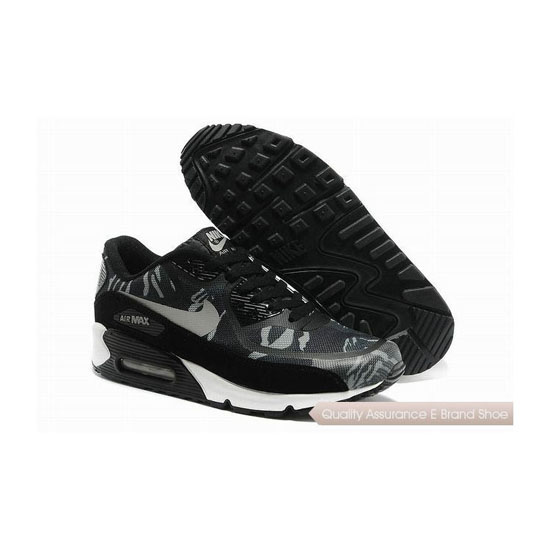 Nike Air Max 90 PREM TAPE SN Mens Gray And Black Sneakers