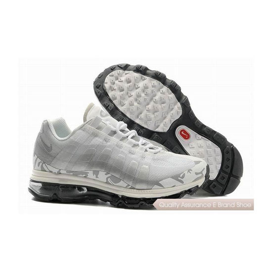 Nike Air Max 95 360 Mens White Gray Sneakers