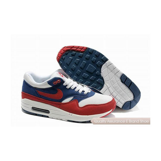 Nike Air Max 1 Unisex Blue Red Sneakers