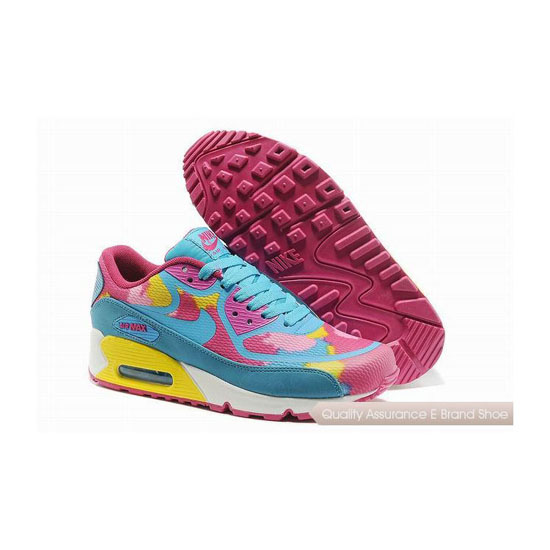 Nike Air Max 90 PREM TAPE SN Womens Blue And Pink Sneakers