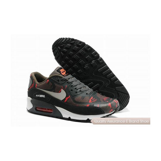 Nike Air Max 90 PREM TAPE SN Mens Red And Black Sneakers