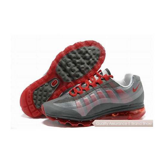 Nike Air Max 95 360 Unisex Gray Red Sneakers