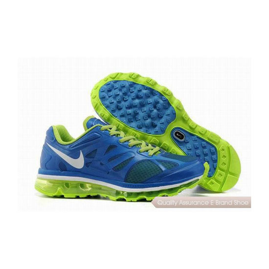 Nike Air Max 2012 Womens Blue Green Sneakers