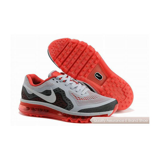 Nike Air Max 2014 Mens White Gray Red Sneakers