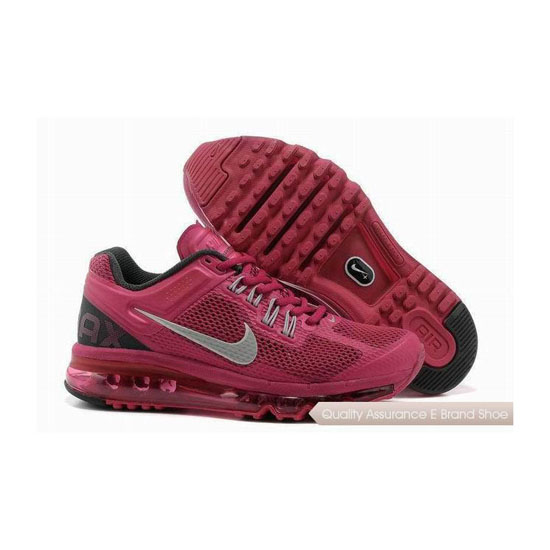 Nike Air Max 2013 Womens Pink Silver Sneakers