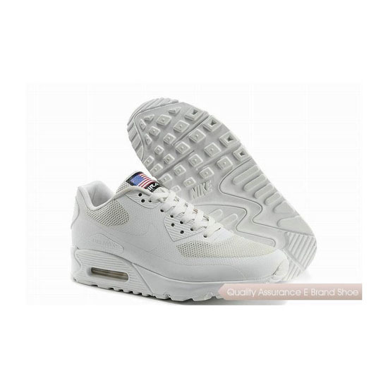 Nike Air Max 90 HYP QS Mens All White Sneakers