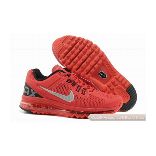 Nike Air Max 2013 Mens Red Gray Sneakers