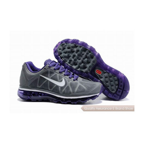 Nike Air Max 2011 Womens Gray Purple Sneakers