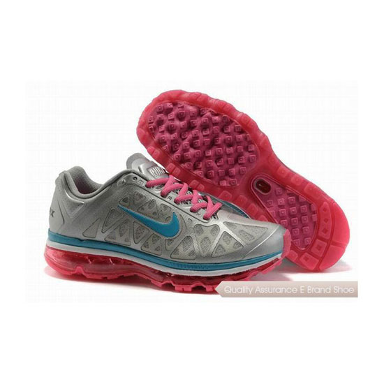 Nike Air Max 2011 Womens Gray Red Sneakers
