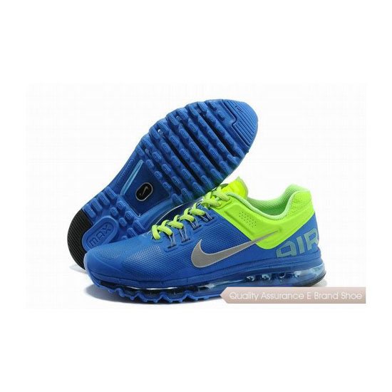 Nike Air Max 2013 Mens Leather Blue Green Sneakers
