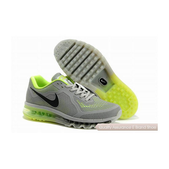 Nike Air Max 2014 KPU Mens Gray Green Sneakers