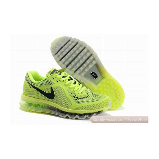 Nike Air Max 2014 KPU Mens Green Black Sneakers