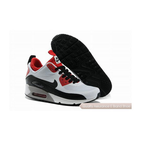 Nike Air Max 90 SNEAKERBOOT NS Womens White Red Running Sneakers