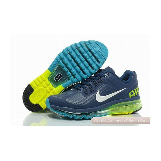 Nike Air Max 2013 Mens Leather Blue White Sneakers